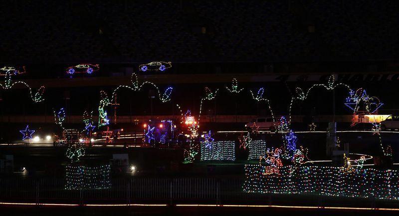 Christmas Lights At Charlotte Motor Speedway 2017