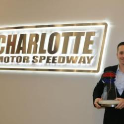 Matt Greci, Charlotte Motor Speedway Executive Director of Events, was named Speedway Motorsports' O. Bruton Smith Award recipient for 2018